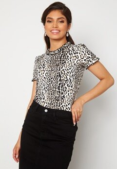 Chiara Forthi Romea ss puff top Leopard Bubbleroom.no