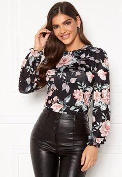 Chiara Forthi Romea top Black / Pink / Floral Bubbleroom.no