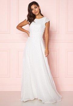 Chiara Forthi Rosanne pearl gown White bubbleroom.no