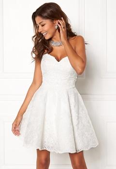 Chiara Forthi Rosetta Prom Gown White Bubbleroom.no