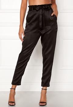 Chiara Forthi Sania paperbag pants Black Bubbleroom.no