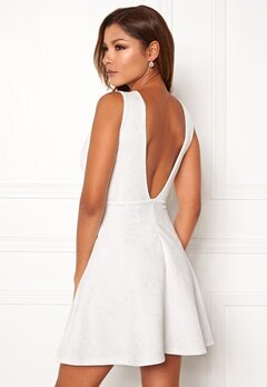 Chiara Forthi Sarina bonded lace dress White Bubbleroom.no