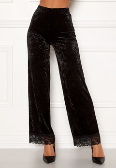Chiara Forthi Sentiera Lace Pants Black Bubbleroom.no