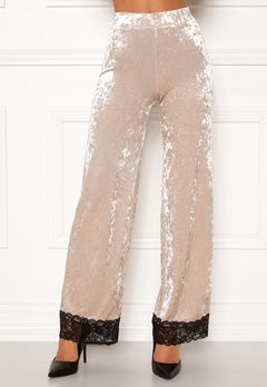 Chiara Forthi Sentiera Lace Pants Light beige Bubbleroom.no
