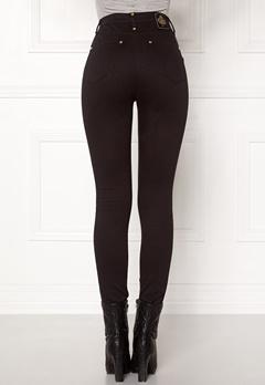 Chiara Forthi Sky-High Megastretch Ankle Jeans Black / Gold Bubbleroom.no