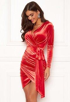 Chiara Forthi Snapshot Drape Dress Red bubbleroom.no