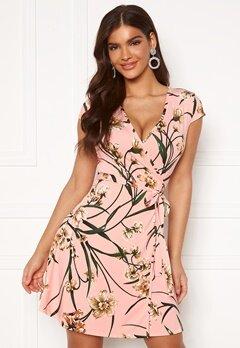 Chiara Forthi Sonnet Mini Wrap Dress s/s Pink / Floral Bubbleroom.no