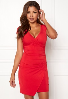 Chiara Forthi Soprano Wrap Dress Red Bubbleroom.no