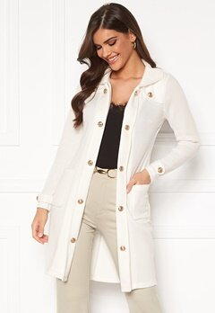 Chiara Forthi Sottovalle Jersey Coat Offwhite Bubbleroom.no