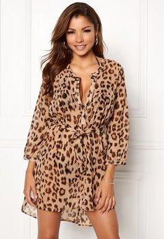 Chiara Forthi Spiaggia Shirt Dress Leopard Bubbleroom.no