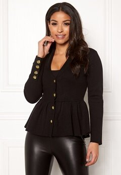 Chiara Forthi Stefania Knit Jacket Black Bubbleroom.no
