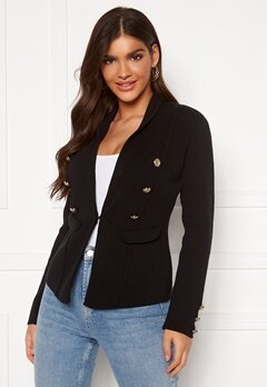 Chiara Forthi Stella heavy knit blazer Black Bubbleroom.no