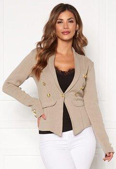 Chiara Forthi Stella heavy knit blazer Grey-beige Bubbleroom.no