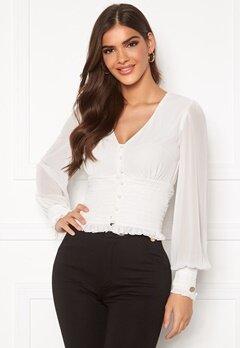 Chiara Forthi Sue ruffle blouse Cream Bubbleroom.no
