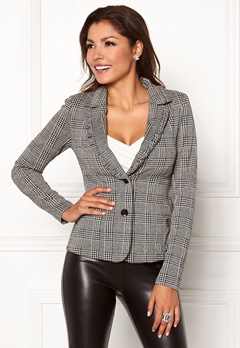 Chiara Forthi Suzan Blazer Black / Grey Bubbleroom.no