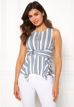 Chiara Forthi Suzette Wrap Top Striped / Offwhite / Blue Bubbleroom.no