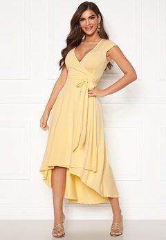 Chiara Forthi Tara Highlow Dress Light yellow Bubbleroom.no