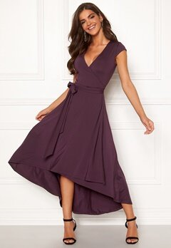 Chiara Forthi Tara Highlow Dress Plum Bubbleroom.no