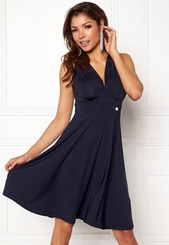 Chiara Forthi Tiamii Dress Navy Bubbleroom.no