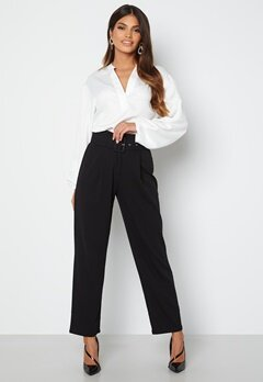 Chiara Forthi Traviata soft suit pants Black bubbleroom.no