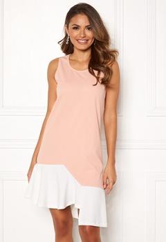 Chiara Forthi True colorblock dress Dusty pink / Offwhite Bubbleroom.no