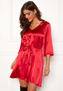 Chiara Forthi Turin tie belt dress Red Bubbleroom.no