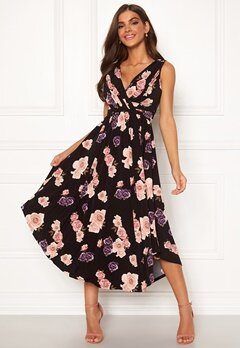 Chiara Forthi Valeria Dress Black / Floral Bubbleroom.no