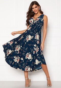 Chiara Forthi Valeria Dress Navy / Floral Bubbleroom.no