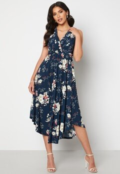 Chiara Forthi Valeria Dress Navy / Floral Bubbleroom.no