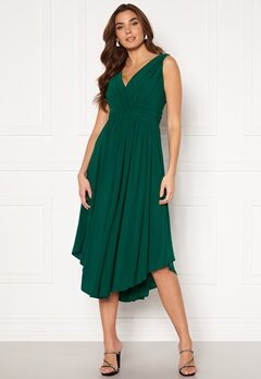 Chiara Forthi Valeria Dress Dark green Bubbleroom.no