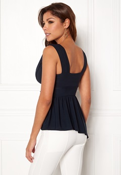 Chiara Forthi Valeria Top Navy Bubbleroom.no