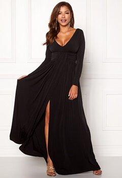 Chiara Forthi Vanessa L/S Gown Black Bubbleroom.no