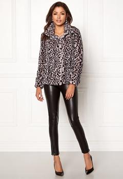 Chiara Forthi Venezia Faux Fur Jacket Leopard Bubbleroom.no