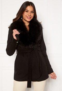 Chiara Forthi Verona Short Coat Black Bubbleroom.no
