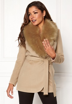 Chiara Forthi Verona Short Coat Camel Bubbleroom.no