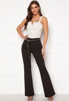 Chiara Forthi Veronique chain belt pants Black Bubbleroom.no