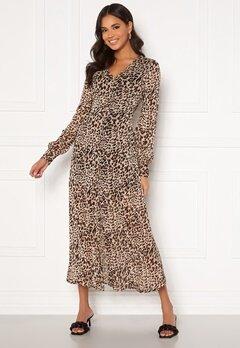 Chiara Forthi Virginia chiffon dress Leopard Bubbleroom.no
