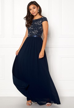 Chiara Forthi Viviere Sparkling Gown Midnight blue Bubbleroom.no