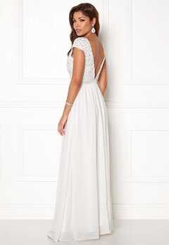 Chiara Forthi Viviere Sparkling Gown Offwhite Bubbleroom.no