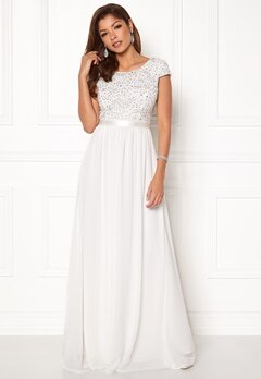 Chiara Forthi Viviere Sparkling Gown White Bubbleroom.no