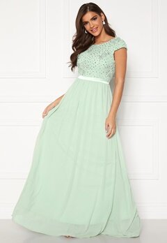 Chiara Forthi Viviere Sparkling Gown Light green Bubbleroom.no