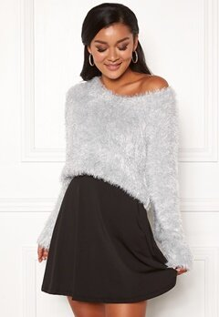 Chiara Forthi Woop sparkle sweater Silver Bubbleroom.no