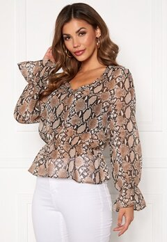Chiara Forthi Yesica smock top Animal print Bubbleroom.no