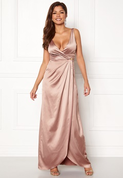 Chiara Forthi Ysabel Satin Gown Heather pink Bubbleroom.no