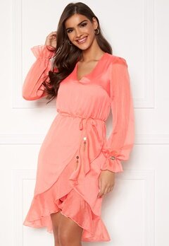 Chiara Forthi Rosita flounce dress Coral Bubbleroom.no