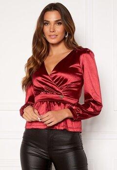 Chiara Forthi Emilia wrap top Red Bubbleroom.no