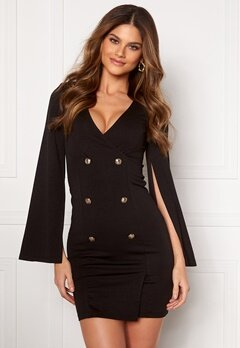 Chiara Forthi Hailey Cape Blazer Dress Black Bubbleroom.no