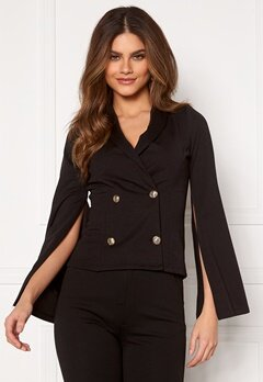 Chiara Forthi Hailey Cape Blazer Black Bubbleroom.no