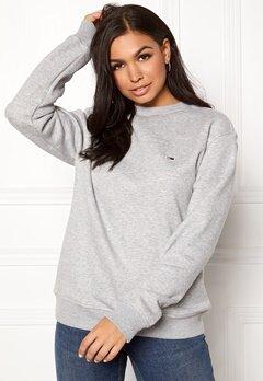 TOMMY JEANS Classics Sweatshirts 038 LT Grey Bubbleroom.no