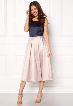 Closet London Midi Dress With Belt Navy/blush Bubbleroom.no